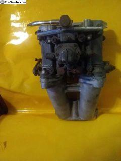 Early Solex 40Pll-4 Carburetor with manifold