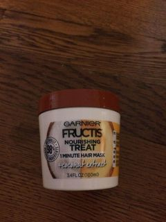 Brand new Garnier fructis nourishing treatment one minute hair mask coconut extract conditioner