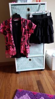 Girls size 10 skirt and top outfit