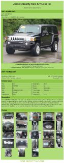 $11,992, 2007 Hummer H3 Awd Auto 119k Miles 5 Cyl Ready To Go Air Conditioning; Power Windows