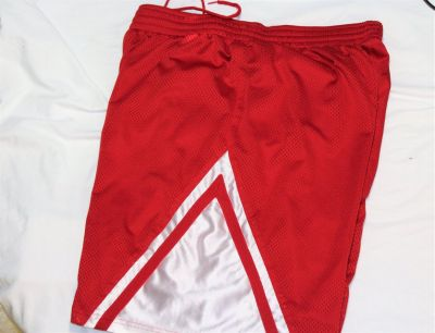 "Men's XL Athletic Shorts red White Premier Basketball Gym 10"" Inseam"