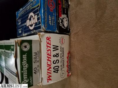 For Sale: .40 s&w Ammo trade for .45 ammo