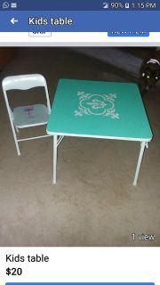 Table and chaier