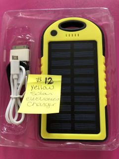 Brand new yellow solar electronics charger.