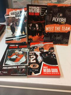 5 flyers books full of info pics and stats from 2005 to 2012