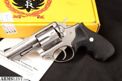 For Sale: Ruger Speed Six Speed-Six, Stainless 3 Da Double Action Revolver, Box & Manual, MFD 1987 .357 Mag.