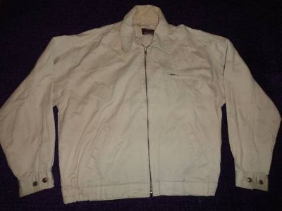 Mens beige light weight jacket, size medium