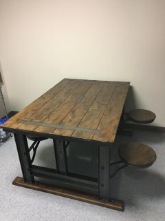 Galvin Cafeteria Table W Stools