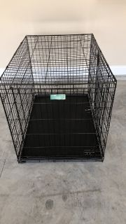 Collapsable metal large dog crate
