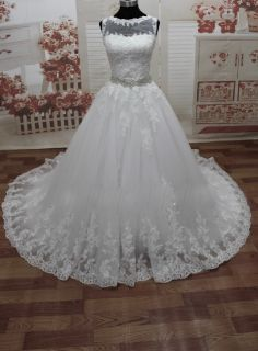 Belinda's A Line Lace Wedding Gown