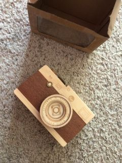 Wood Camera Music Box
