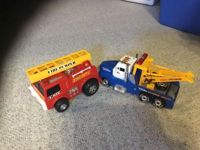 Fire truck and tow truck