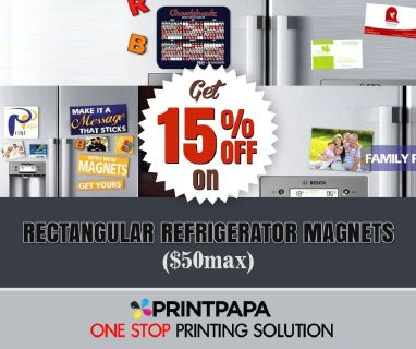 15% Off On customized Rectangular Refrigerator Magnets.
