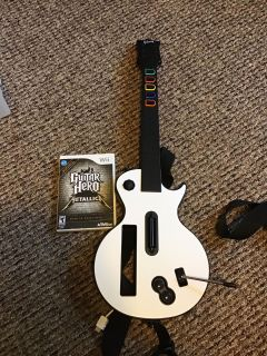 Nintendo Wii guitar hero controller Metallica game