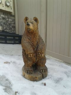 Redwood chainsaw carved bear