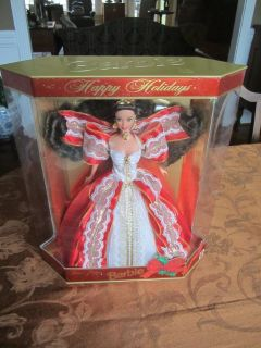 1997 Holiday Barbie w/ Gold Background Special Edition NIB