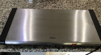 *** Oster stainless steel warming surface**