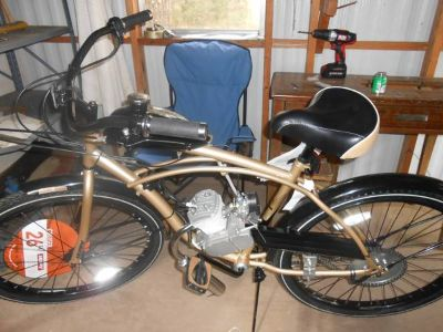 motorized bicycle with 80cc two cycle engine