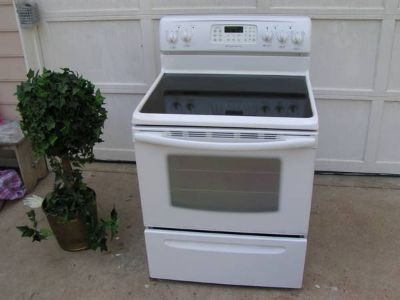 Range Stove Glass Top White by Frigidaire