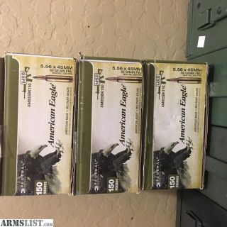 For Sale: 450 rounds 5.56 62 grain green tip ammo