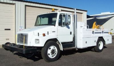 2004 Freightliner Utility with Backhoe *24 K Miles*