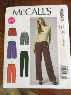 New Never used/cut pattern for shorts and pants