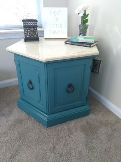 Marble top Side Accent Table