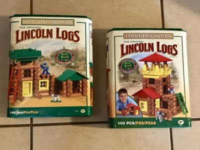 2 Sets of Lincoln Logs EUC
