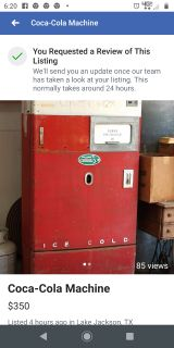 Coca-Cola Machine for $350. Completely gutted. I was going to make a gun safe out of it