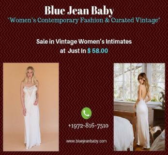 Online Sale in Vintage Women's Intimates at Blue Jean Baby