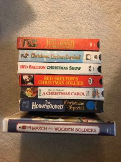 Assorted Christmas vhs