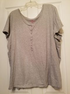 Woman Within Grey Shirt Size 4X