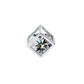 Solitaire Faux Diamond Cube Pendant