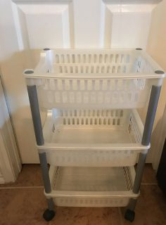 3 shelf storage cart with wheels