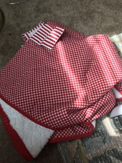Red and white Car seat canopy