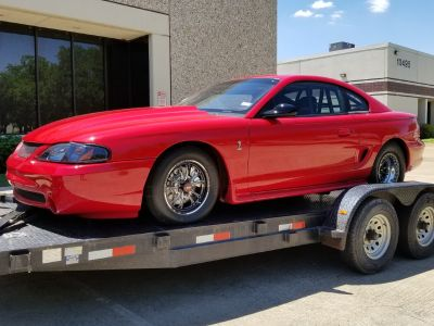 1995 Turbocharged Mustang Cobra, 32' enclosed trailer + xtra