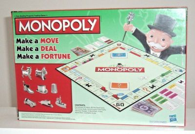 NEW Hasbro Monopoly Classic Edition Traditional Family Board Game w Cat Token