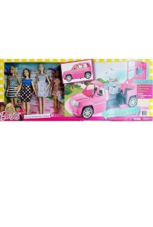 Barbie Ultimate Limousine LIMO & 4 FASHIONISTA Doll Playset Gift Set - NEW!