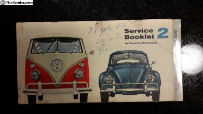 1964 Service Booklet