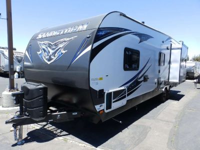 2019 Forest River SANDSTORM 271 GSLR,1 SLIDE, 200 WATT SOLAR PANEL, ARCTIC PACKAGE, ELECTRIC DINETTE, 2 A/C'S, ONAN 5500 GENERATOR