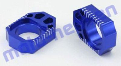 Purchase Kawasaki 2008-2014 KLX250 KLX 250 Zeta Rear Axle Blocks Chain Adjuster BLUE 5152 motorcycle in Sugar Grove, Pennsylvania, United States, for US $35.95