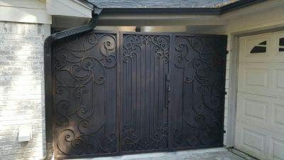 Black Backyard gate