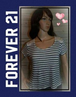 Lace and striped Forever 21 Gorgeous top!!