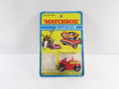 Vintage Matchbox Superfast Red Fork Lift Truck NIP 1972