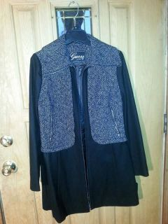 Brand new never used guess wool coat super nice size medium excellent condition retails 300.00