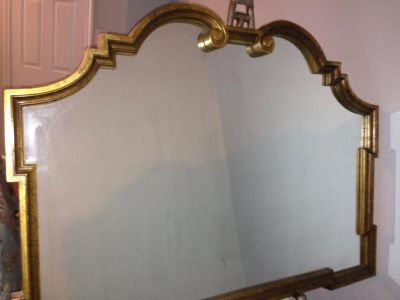 Vintage Labarge, Italian Made, Large Hollywood Regency Gold Mirror