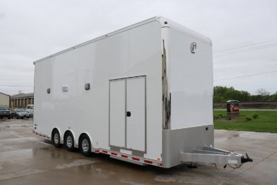 2019 INTECH 28' ALL ALUMINUM STACKER RACE TRAILER