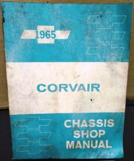 Purchase 1965 Chevrolet Dealer Corvair Chassis Service Shop Manual Repair motorcycle in Holts Summit, Missouri, United States, for US $19.65
