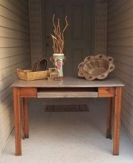 Vintage Weathered Library Table