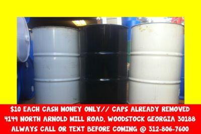 $1O atlanta georgia metal steel barrel barrell barrells barrels burn burning berral berrall berrals berralls